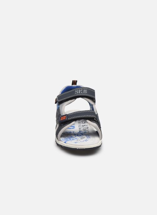 Sandalias Bopy Taxeo Azul vista del modelo