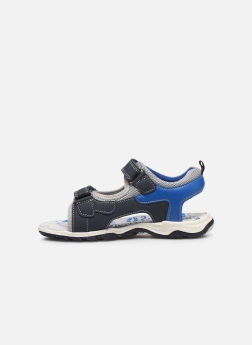 Sandales et nu-pieds Bopy Taxeo Bleu vue face