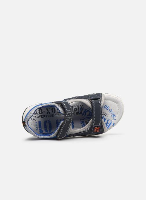 Sandales et nu-pieds Bopy Taxeo Bleu vue gauche