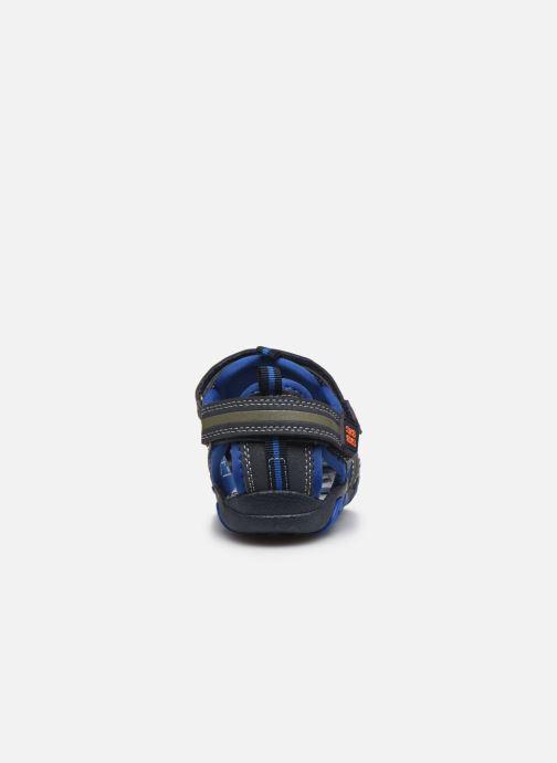 Sandalias Bopy Tiaoul Azul vista lateral derecha