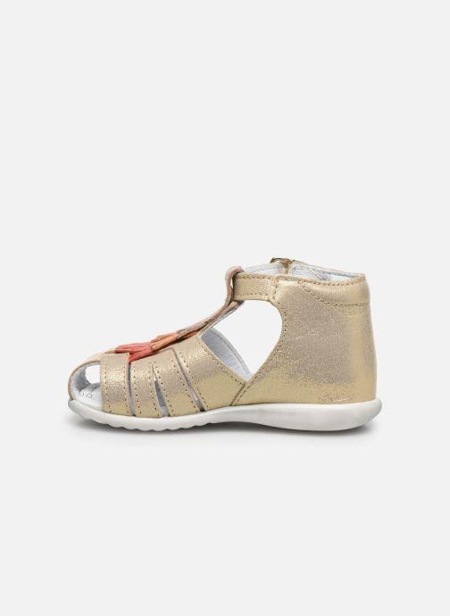 Sandales et nu-pieds Bopy Zani Or et bronze vue face