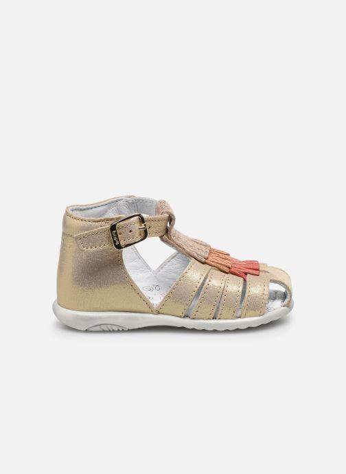 Sandales et nu-pieds Bopy Zani Or et bronze vue derrière