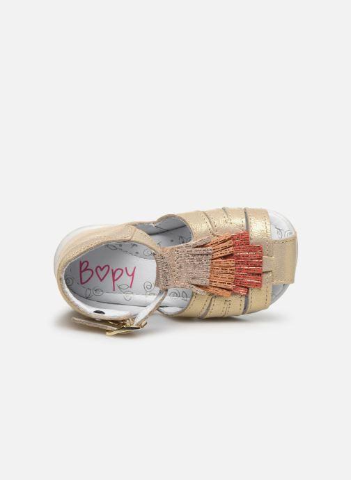 Sandales et nu-pieds Bopy Zani Or et bronze vue gauche