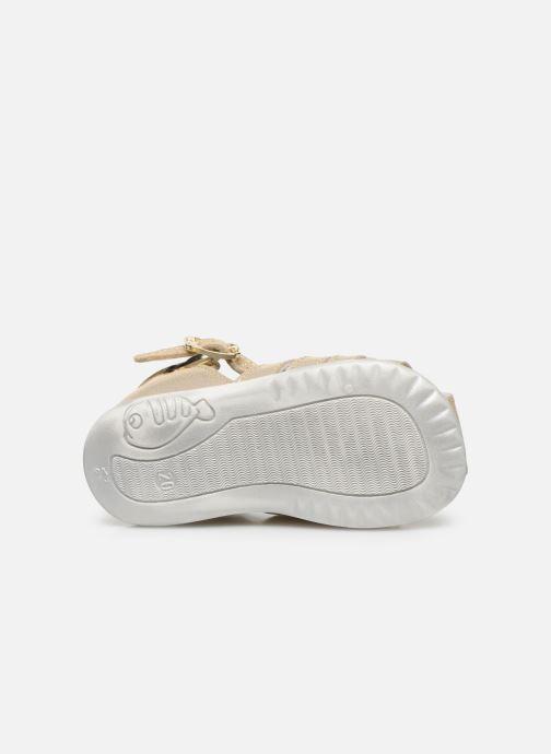 Sandales et nu-pieds Bopy Zani Or et bronze vue haut