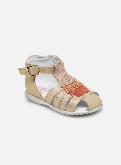Sandales et nu-pieds Bopy Zani Or et bronze vue détail/paire