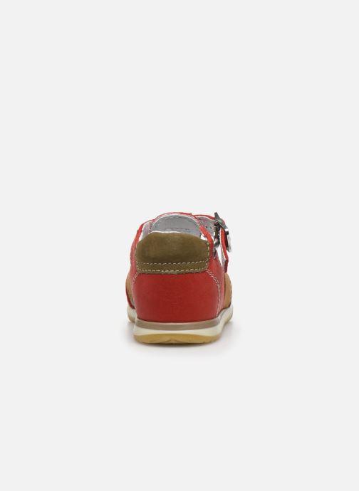 Sandalias Bopy Zigoto Rojo vista lateral derecha