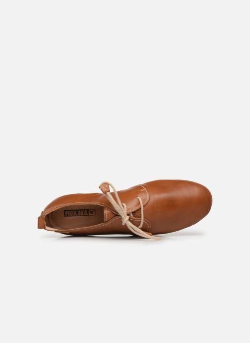 Zapatos con cordones Pikolinos Calabria W9K-4985 Marrón vista lateral izquierda