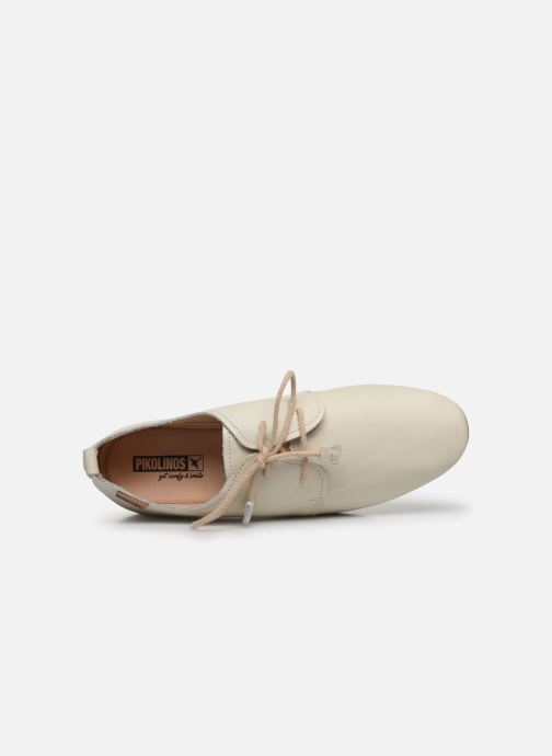 Zapatos con cordones Pikolinos Calabria W9K-4985 Beige vista lateral izquierda