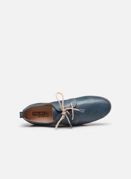 Zapatos con cordones Pikolinos Calabria W9K-4985 Azul vista lateral izquierda