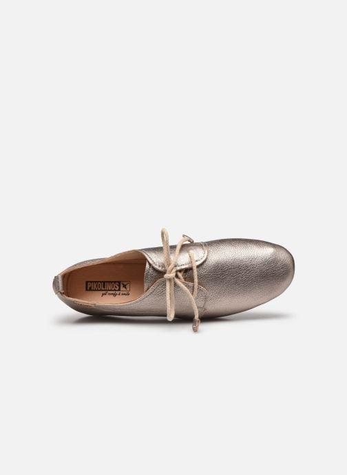 Zapatos con cordones Pikolinos Calabria W9K-4985CL Plateado vista lateral izquierda
