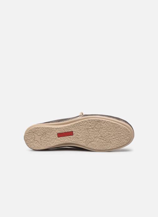 Zapatos con cordones Pikolinos Calabria W9K-4985CL Plateado vista de arriba