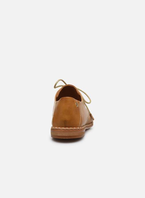 Zapatos con cordones Pikolinos Merida W4F-4994 Marrón vista lateral derecha
