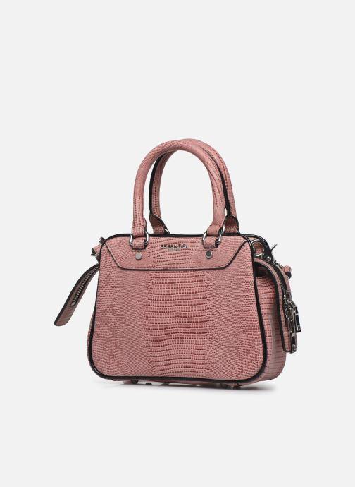 Sacs à main Essentiel Antwerp Vertuosi Leather Mini Shoulderbag Rose vue portées chaussures