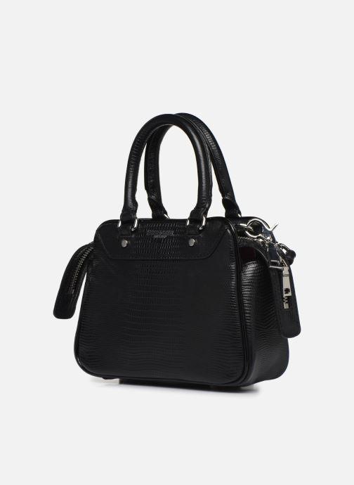 Sacs à main Essentiel Antwerp Vertuosi Leather Mini Shoulderbag Noir vue portées chaussures