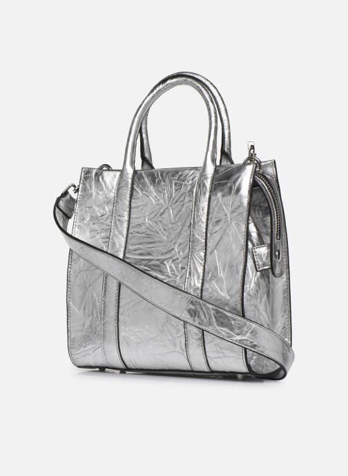Sacs à main Essentiel Antwerp Vicaro Leather Shoulderbag Argent vue droite