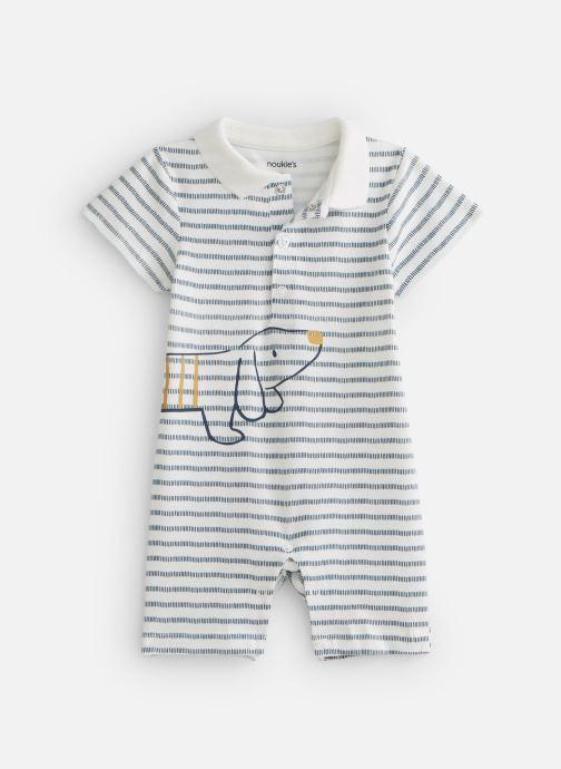 Vêtements Noukies Cocon Combi Jersey Raye Bio Blanc vue détail/paire
