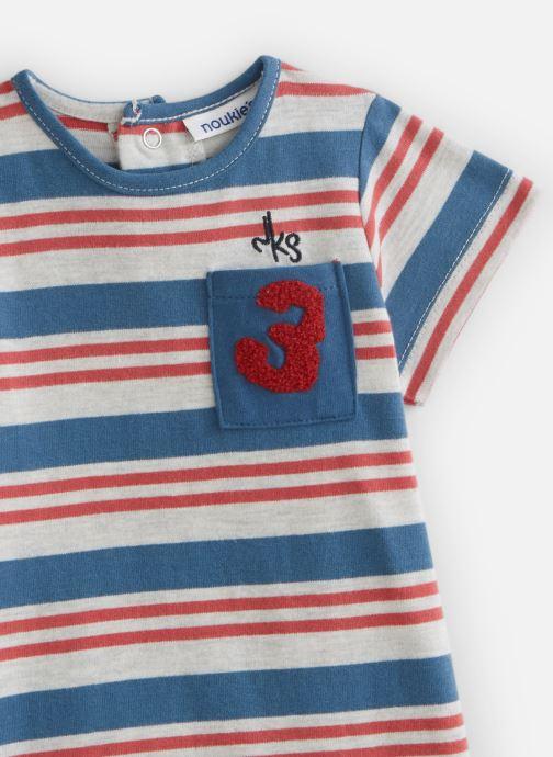 Vêtements Noukies Combishort Boy Raye Jersey Bleu vue portées chaussures