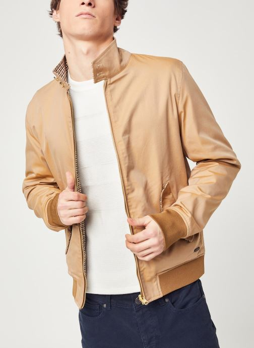 Vêtements Scotch & Soda Chic reversible bomber jacket Marron vue détail/paire