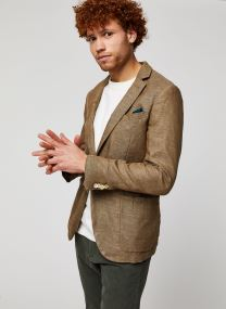 Unconstructed cotton/linen blazer