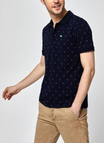 Polo - Classic pique polo with mini all-over print