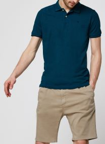 Classic polo in melange pique quality