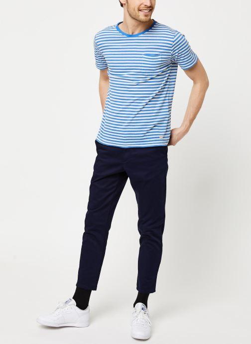 Vêtements Armor Lux T-Shirt Héritage Bleu vue bas / vue portée sac