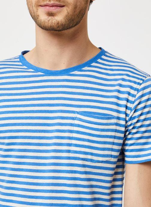 Vêtements Armor Lux T-Shirt Héritage Bleu vue face