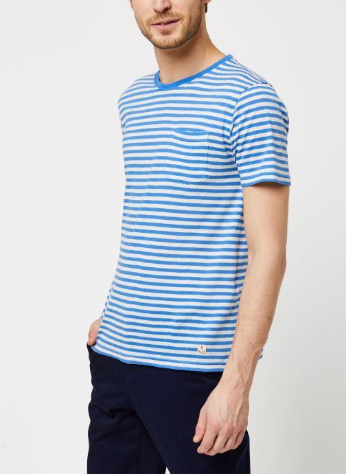Vêtements Armor Lux T-Shirt Héritage Bleu vue détail/paire