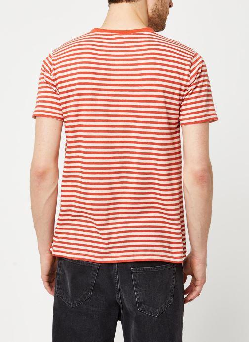 Vêtements Armor Lux T-Shirt Héritage Orange vue portées chaussures