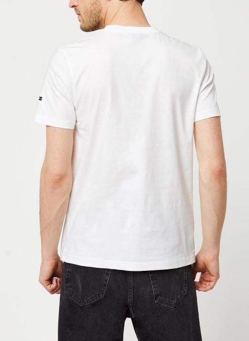 Vêtements Armor Lux T-Shirt Sérigraphié Blanc vue portées chaussures