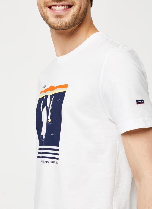 Vêtements Armor Lux T-Shirt Sérigraphié Blanc vue face