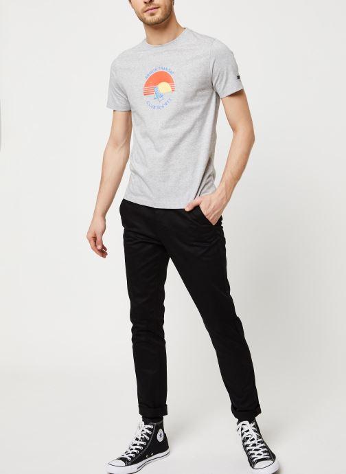 Vêtements Armor Lux T-Shirt Sérigraphié Gris vue bas / vue portée sac