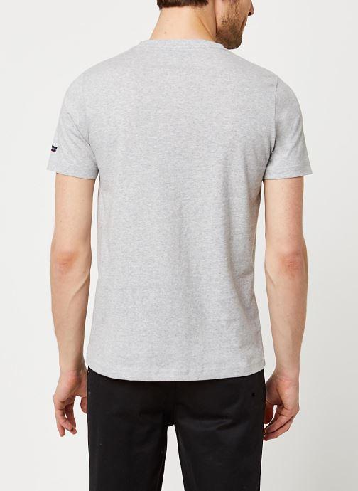 Vêtements Armor Lux T-Shirt Sérigraphié Gris vue portées chaussures