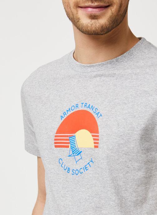 Vêtements Armor Lux T-Shirt Sérigraphié Gris vue face