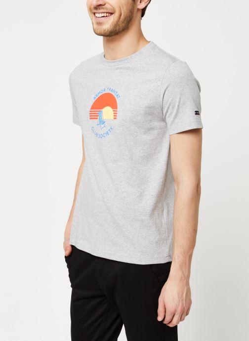 Vêtements Armor Lux T-Shirt Sérigraphié Gris vue droite