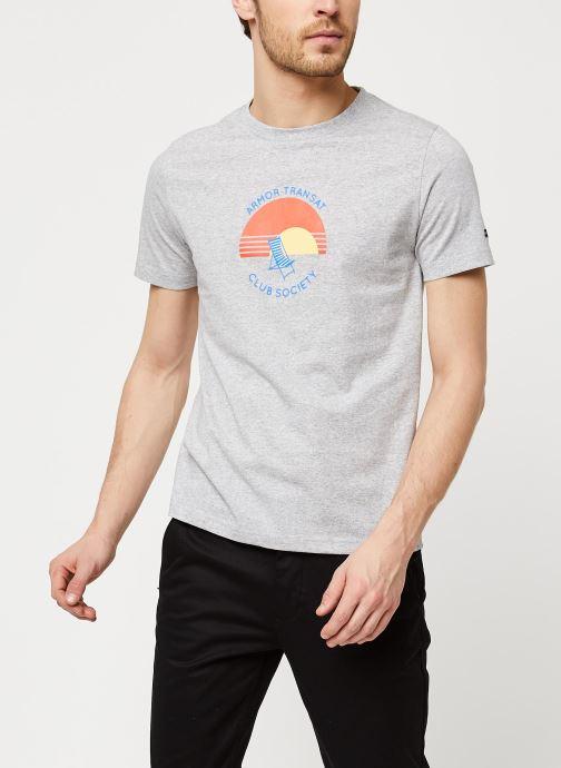 Vêtements Armor Lux T-Shirt Sérigraphié Gris vue détail/paire