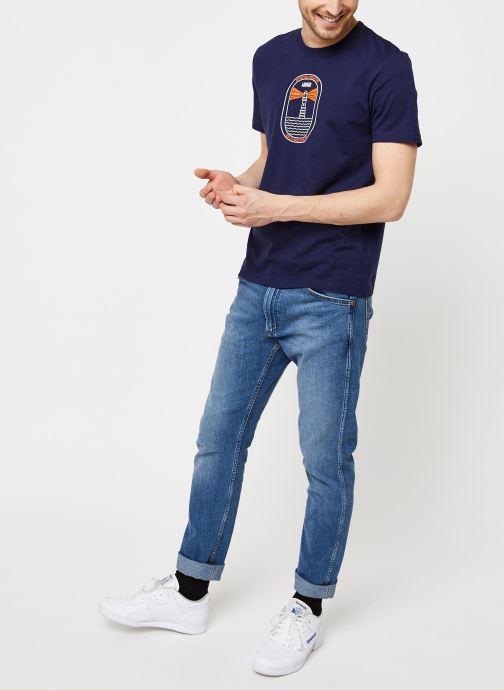 Vêtements Armor Lux T-Shirt Sérigraphié Bleu vue bas / vue portée sac