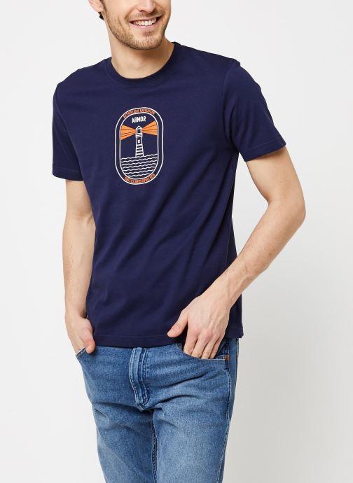 Vêtements Armor Lux T-Shirt Sérigraphié Bleu vue droite