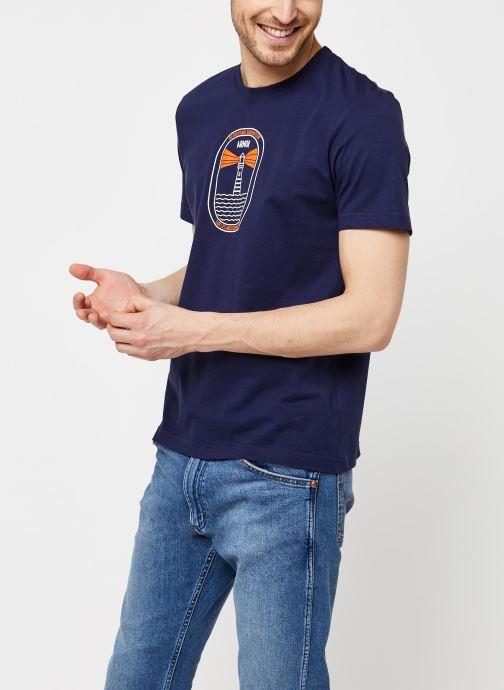 Vêtements Armor Lux T-Shirt Sérigraphié Bleu vue détail/paire