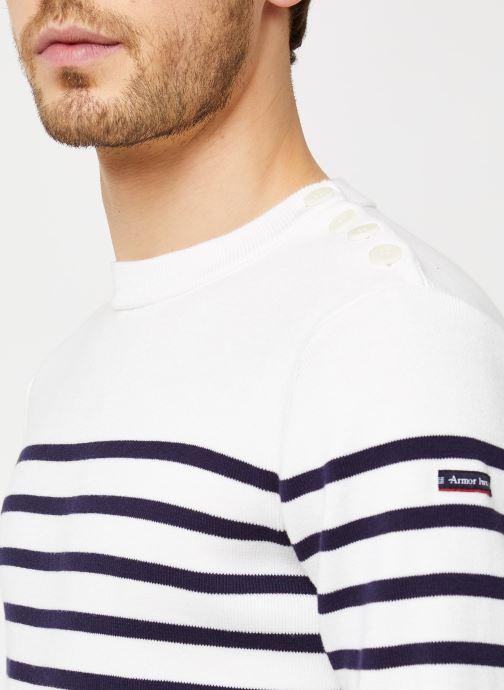 Vêtements Armor Lux Pull marin Groix Blanc vue face