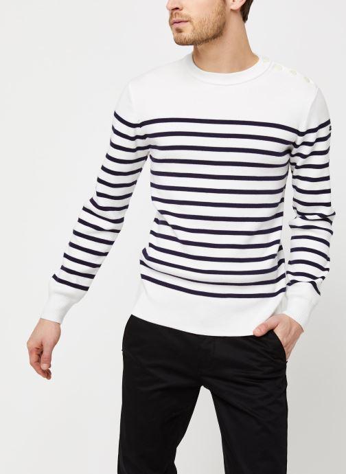 Vêtements Armor Lux Pull marin Groix Blanc vue détail/paire