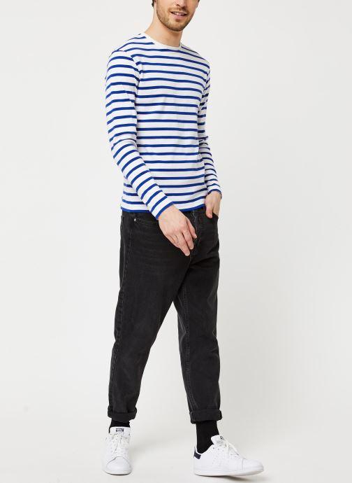 Armor Lux T-shirt manches longues - Marinière Crozon (Blanc) - Vêtements (417191)