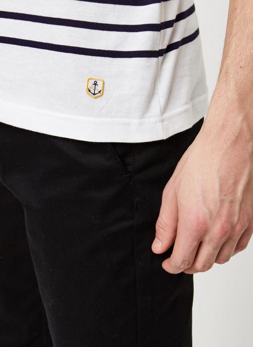 Vêtements Armor Lux Marinière Etel Héritage Blanc vue face