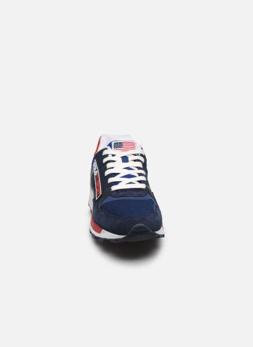 Baskets Polo Ralph Lauren TRCKSTR SPRT Bleu vue portées chaussures