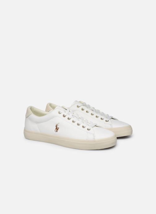 Baskets Polo Ralph Lauren LONGWOOD Blanc vue 3/4
