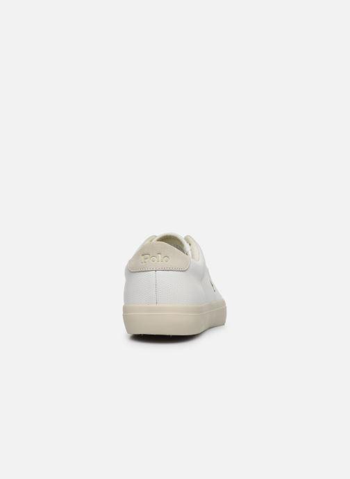 Baskets Polo Ralph Lauren LONGWOOD Blanc vue droite