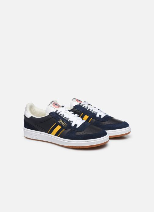 Baskets Polo Ralph Lauren POLO COURT Bleu vue 3/4