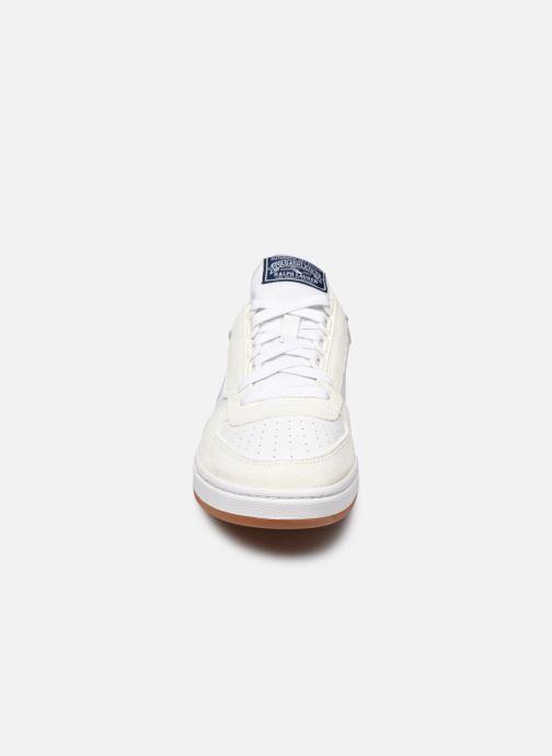 Baskets Polo Ralph Lauren POLO COURT PP Blanc vue portées chaussures