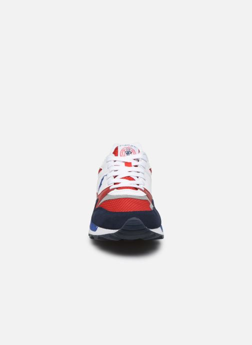 Baskets Polo Ralph Lauren TRCKSTR PONY Rouge vue portées chaussures