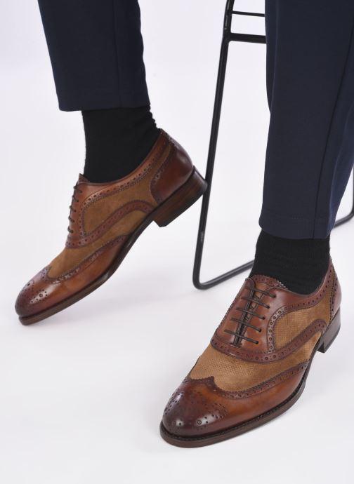 Chaussures à lacets Marvin&Co Luxe Wanty - Cousu Goodyear Marron vue bas / vue portée sac